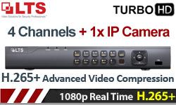 HIKVISION LTS LTD8304K-ET Πεντα-υβριδικό TurboHD DVR 4 καναλιών H.265+ 1080p TVI/CVI/AHD/CVBS +1xIP