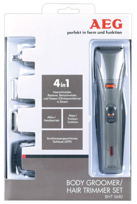 AEG BHT 5640 Επαναφορτιζόμενη Ξυριστική και Κουρευτική Μηχανή για μαλλιά -  γένια - μύτη - αυτιά κιτ 4σε1 c970b65630c